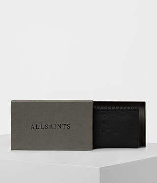 Women's Kita Pebble Leather Wallet (Black) - product_image_alt_text_5