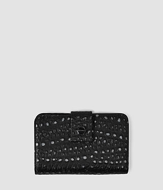 Womens The Ridley Wallet (Black Metallic)
