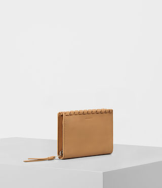 Womens Kita Small Leather Wallet (LIGHT CARAMEL) - product_image_alt_text_3