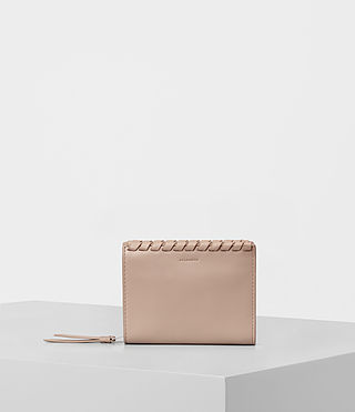 Womens Kita Small Leather Wallet (STONE WHITE) - product_image_alt_text_1