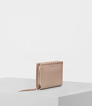 Womens Kita Small Leather Wallet (STONE WHITE) - product_image_alt_text_3