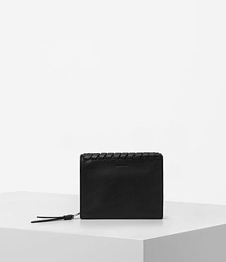 Damen Kita Small Leather Wallet (Black)