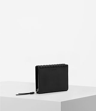 Womens Kita Small Leather Wallet (Black) - Image 3