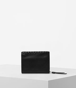 Womens Kita Small Leather Wallet (Black) - Image 4