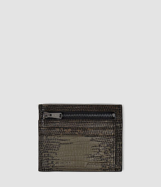 Womens Credit Card Holder With Zip (Khaki)