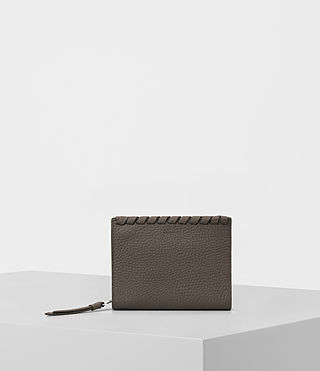 Femmes Kita Small Pebble Leather Wallet (MINK GREY) -