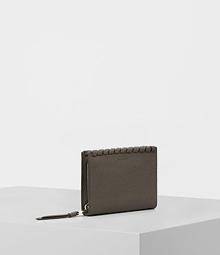 Femmes Kita Small Pebble Leather Wallet (MINK GREY) - product_image_alt_text_3