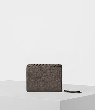 Womens Kita Small Pebble Leather Wallet (MINK GREY) - product_image_alt_text_4