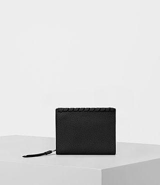 Mujer Kita Small Pebble Leather Wallet (Black)