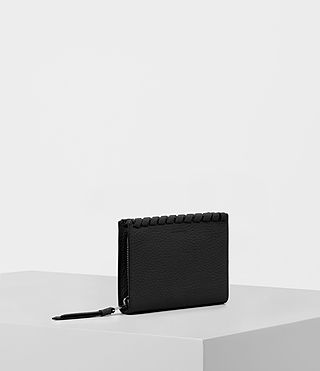 Womens Kita Small Pebble Leather Wallet (Black) - Image 3