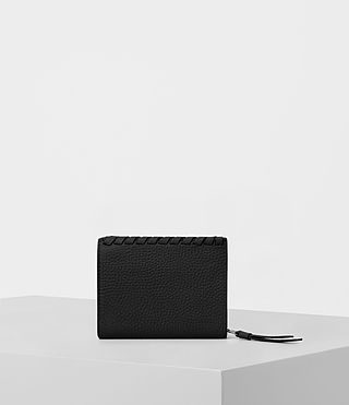 Mujer Kita Small Pebble Leather Wallet (Black) - product_image_alt_text_4
