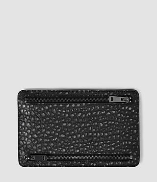 Women's Travel Currency Holder (Black Metallic)
