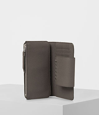 Womens Kita Japanese Leather Wallet (MINK GREY) - product_image_alt_text_3