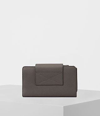 Womens Kita Japanese Leather Wallet (MINK GREY) - product_image_alt_text_5