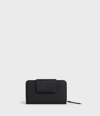 Womens Kita Japanese Leather Wallet (Black)