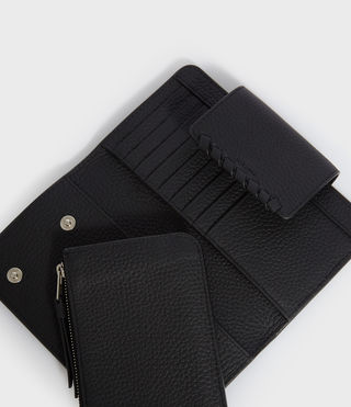 Womens Kita Japanese Wallet (Black) - product_image_alt_text_2