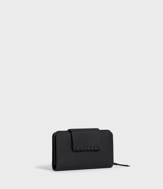 Womens Kita Japanese Wallet (Black) - product_image_alt_text_3