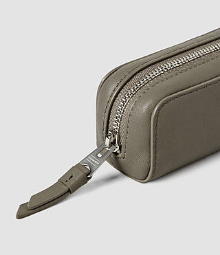 Donne Fleur De Lis Mini Leather Pencil Case (Cement) - product_image_alt_text_3