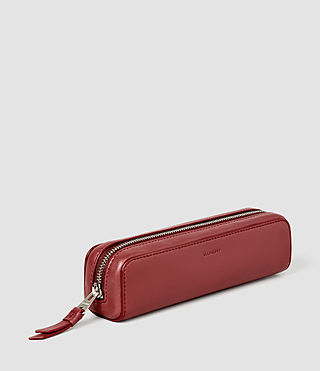 Donne Fleur De Lis Mini Leather Pencil Case (SAHARA RED) - product_image_alt_text_2