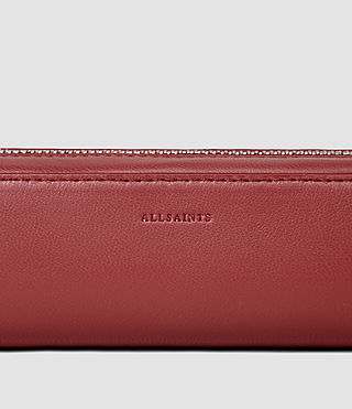 Donne Fleur De Lis Mini Leather Pencil Case (SAHARA RED) - product_image_alt_text_4