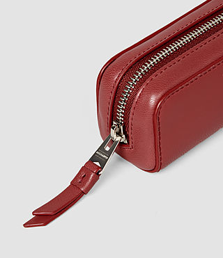 Donne Fleur De Lis Mini Leather Pencil Case (SAHARA RED) - product_image_alt_text_6