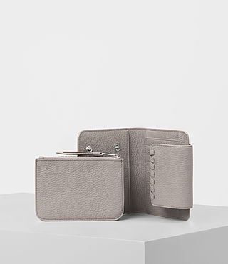 Women's Kita Japanese Mini Wallet (Oyster Grey) - product_image_alt_text_2