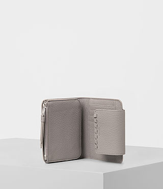 Women's Kita Japanese Mini Wallet (Oyster Grey) - product_image_alt_text_3