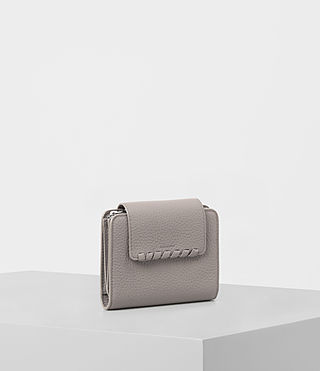 Women's Kita Japanese Mini Wallet (Oyster Grey) - product_image_alt_text_4