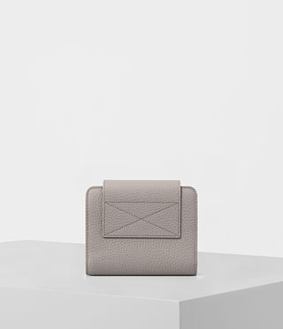 Women's Kita Japanese Mini Wallet (Oyster Grey) - product_image_alt_text_5