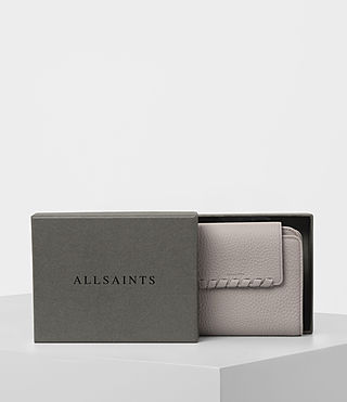 Women's Kita Japanese Mini Wallet (Oyster Grey) - product_image_alt_text_6