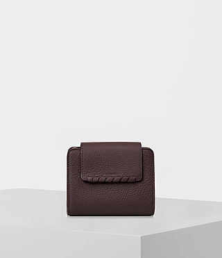 Womens Kita Mini Japanese Leather Wallet (PRUNE)