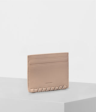Damen Kita Leather Cardholder (Stone) - product_image_alt_text_3