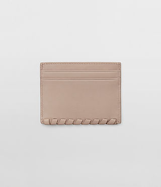 Damen Kita Leather Cardholder (Stone) - product_image_alt_text_4