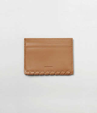 Womens Kita Leather Cardholder (LIGHT CARAMEL) - product_image_alt_text_1