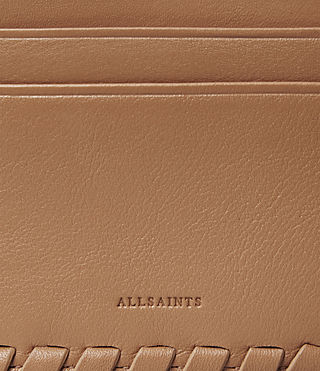 Womens Kita Leather Cardholder (LIGHT CARAMEL) - product_image_alt_text_2