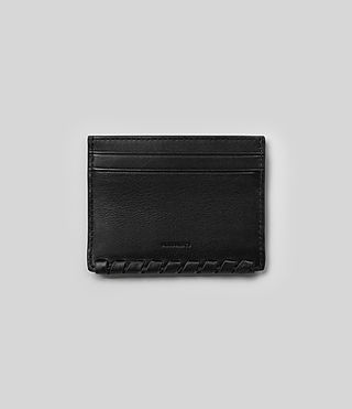 Damen Kita Leather Cardholder (Black) -
