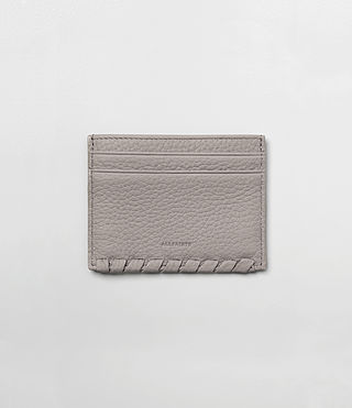 Womens Kita Leather Cardholder (Oyster Grey)