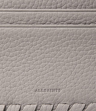Womens Kita Leather Cardholder (Oyster Grey) - product_image_alt_text_2