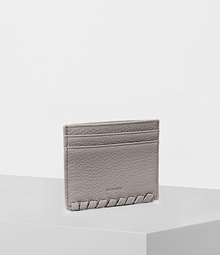 Womens Kita Leather Cardholder (Oyster Grey) - product_image_alt_text_3