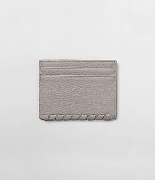 Womens Kita Leather Cardholder (Oyster Grey) - product_image_alt_text_4