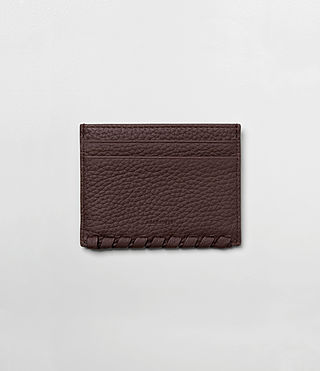 Damen Kita Leather Cardholder (PRUNE)