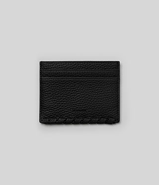 Womens Kita Leather Cardholder (Black) - product_image_alt_text_1