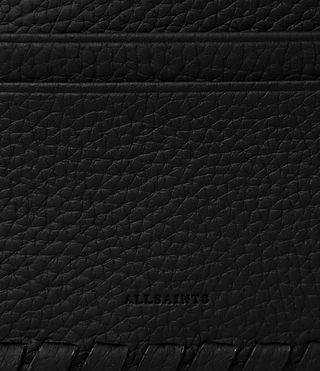 Women's Kita Leather Cardholder (Black) - Image 2