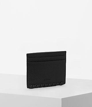 Women's Kita Leather Cardholder (Black) - Image 3
