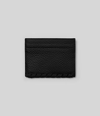 Women's Kita Leather Cardholder (Black) - Image 4