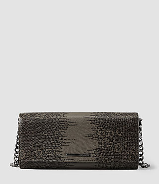 Womens Lea Groumette Wallet (Khaki)