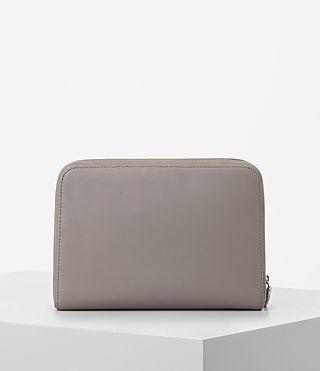 Womens Arc Large Leather Makeup Case (Oyster Grey) - product_image_alt_text_5