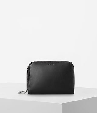Damen Arc Leather Makeup Case (Black)