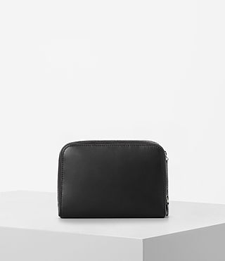Women's Arc Leather Makeup Case (Black) - product_image_alt_text_5