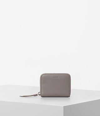 Womens Kanda Mini Leather Wallet (Oyster Grey)